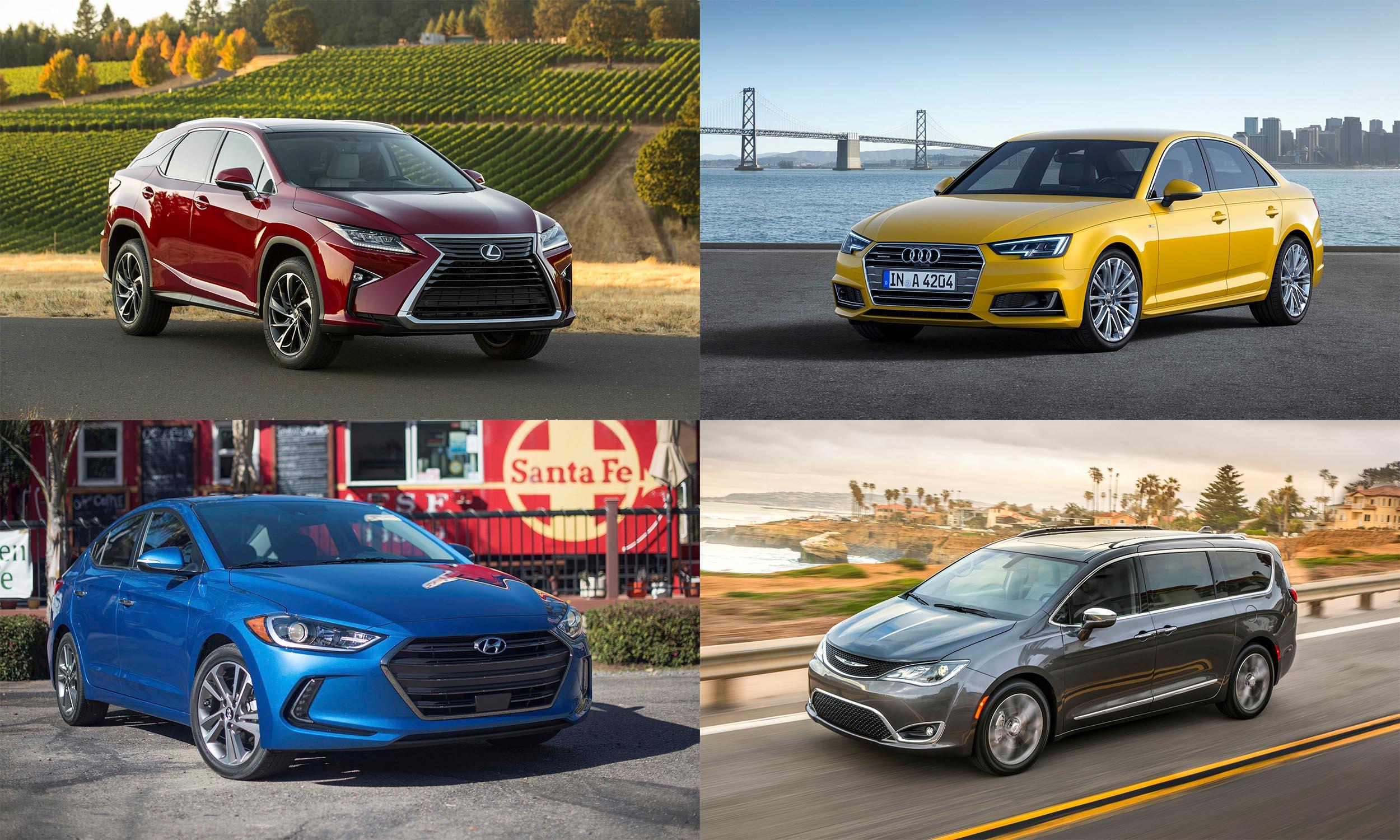 © Toyota Motor Sales USA, © Hyundai Motors America, © Audi AG, © FCA US