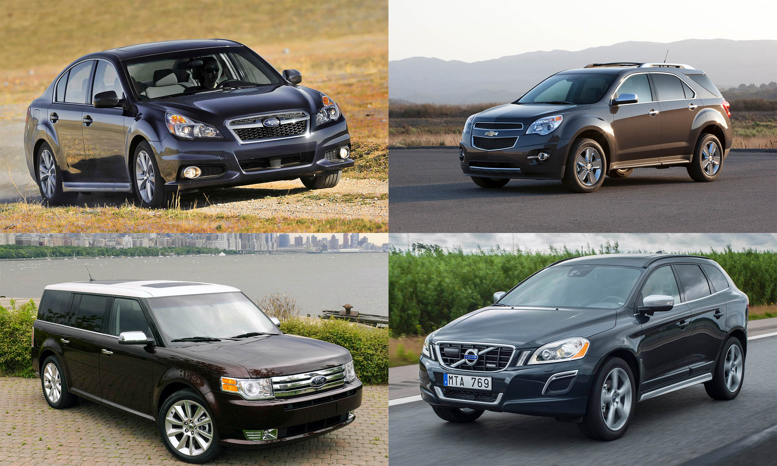 © Subaru of America, © Ford Motor Company, © General Motors, © Volvo Cars North America